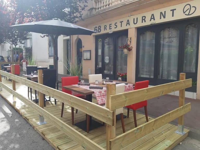 Restaurant le 68 vue extérieure