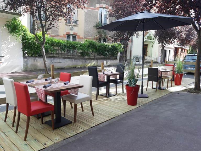 Restaurant le 68 vue de la terrasse